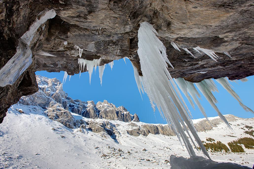 Berglandschap met ijspegels. Berebeeld beeldoptimalisatie voor Werner van Steen Photography.