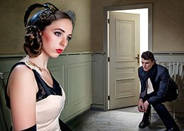 Meisje en jongen in kamer. Berebeeld beeldmanipulatie voor Beeldkracht.