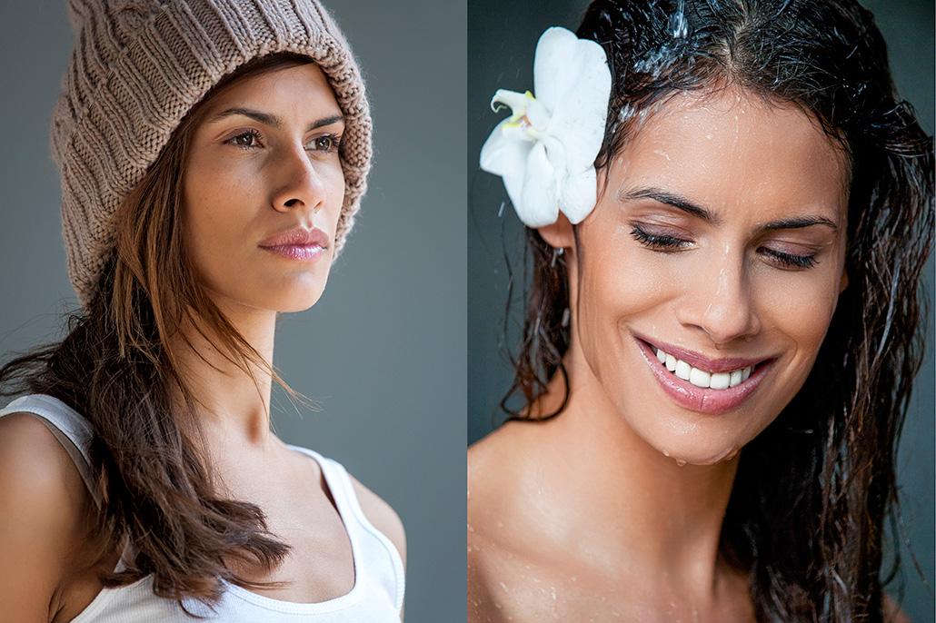 Portretten vrouwelijk model. Berebeeld beeldretouche voor Rituals.
